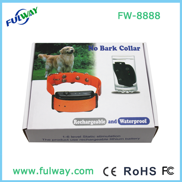 2015 New Rechargeable and Waterproof Dog Bark Control Collar FW-8888