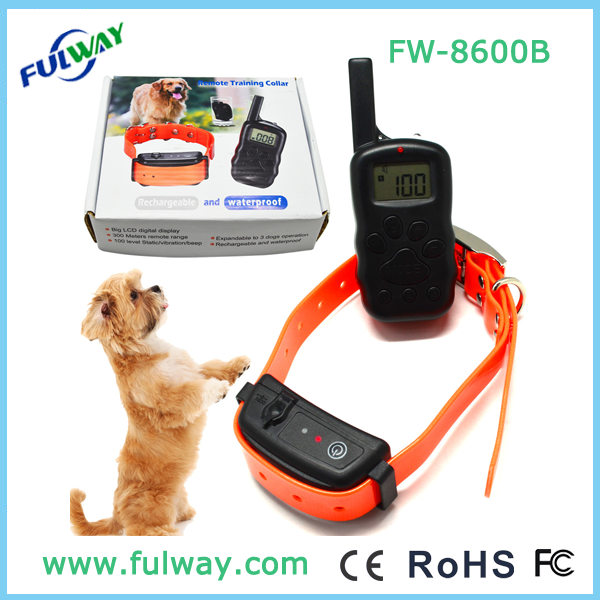 2015 New Rechargeable and Waterproof Remote Training Collar FW-8600B