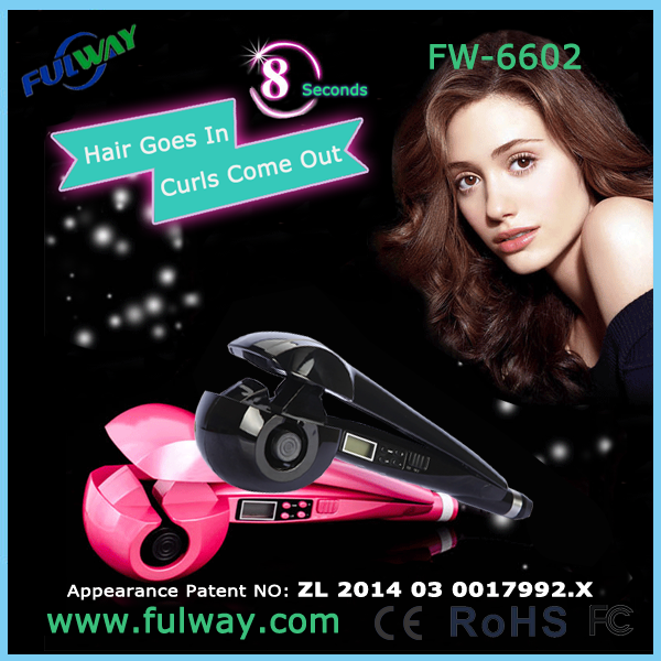 Lcd Display Magic Automatic Hair Curler