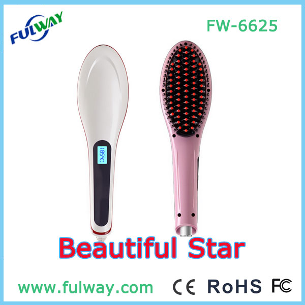 2015 Newest Hot Selling LCD Display Electric Hair Straightening Comb