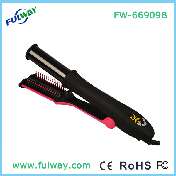 Lcd Display Magic Electric Hair Rotating Iron